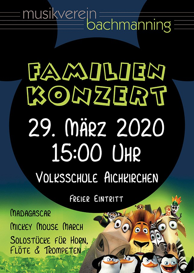 Familienkonzert am 29.3.20 in Aichkirchen